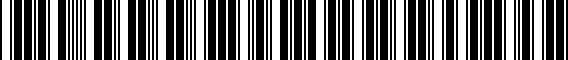 Barcode for 5G0071498AAX1
