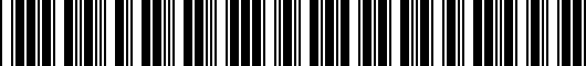 Barcode for 5K00714958Z8